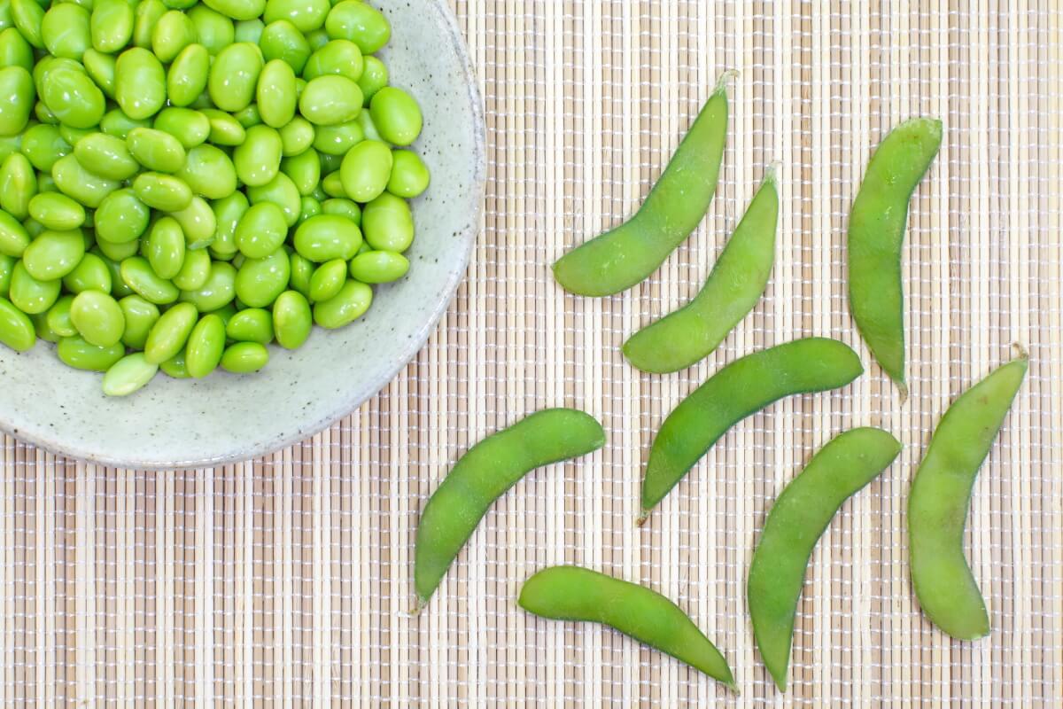 sójové bôby zelené
